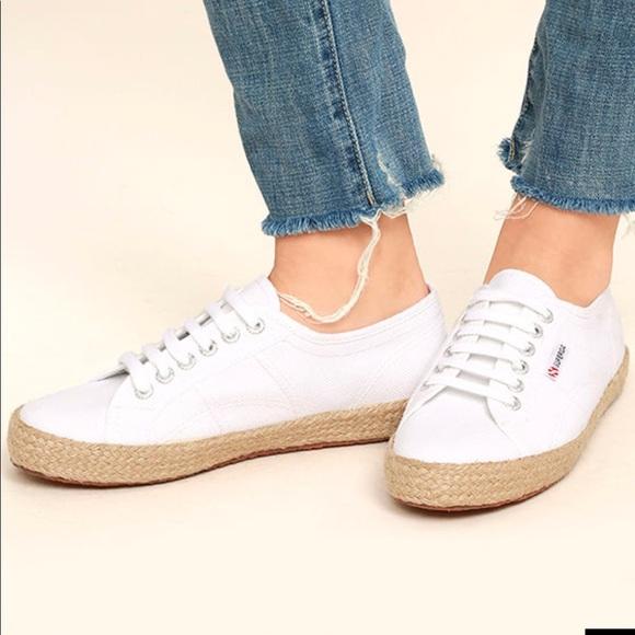 Superga White Espadrilles Sneakers